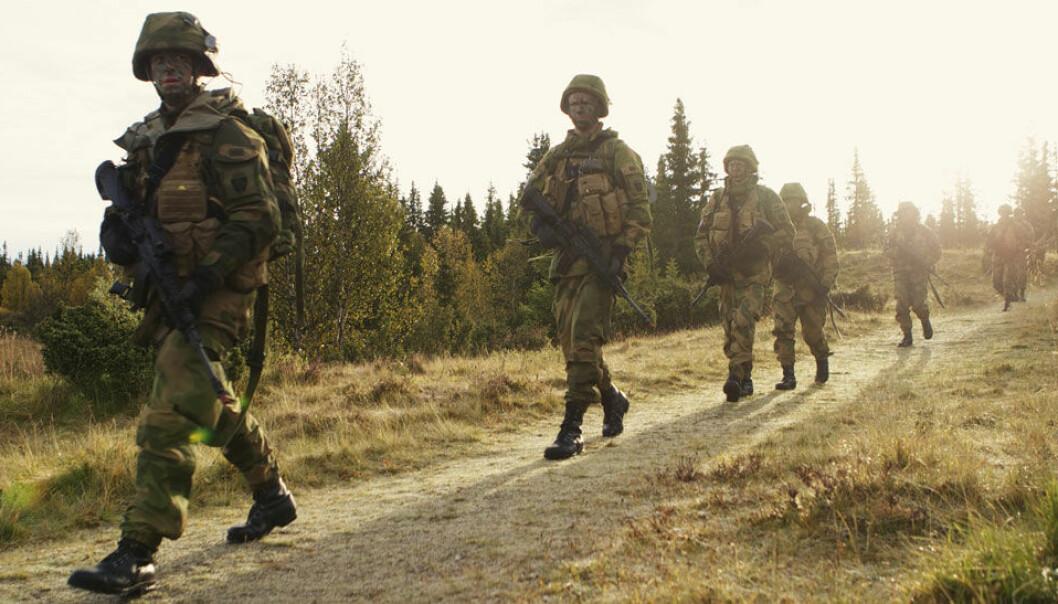 Elever fra Forsvarets ingeniørhøyskole under en øvelse nord for Lillehammer. Torgeir Haugaard / Forsvarets mediesenter