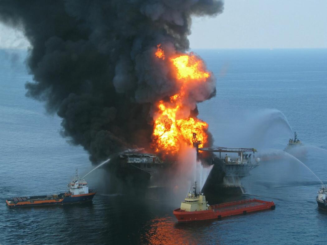 Etter Deepwater Horizon-ulykken strømmet olje og gass ut i Mexicogolfen i 87 dager. Elleve menn døde i ulykken.