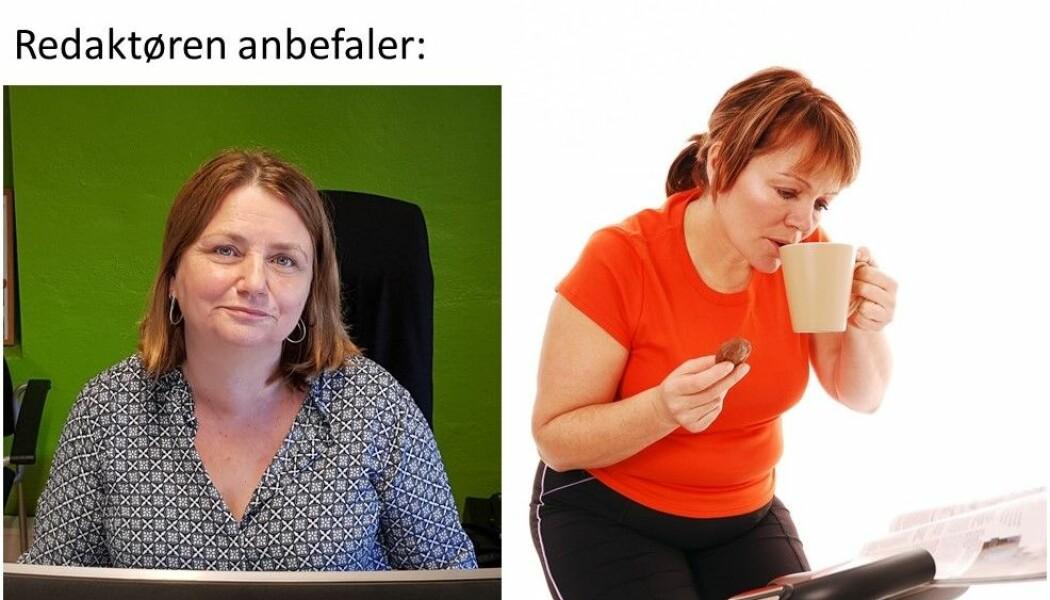 Redaktør Nina Kristiansen i forskning.no til venstre og illustrasjonsbilde til høyre.
