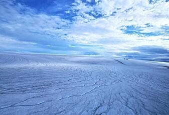 Var Mars dekket av is for lenge siden?