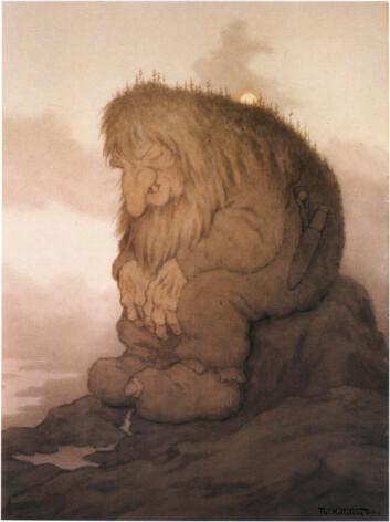 Det var først på slutten av 1800-tallet at trollene fikk sin nåværende visuelle form, etter at Kittelsen og hans kollegaer tegnet dem i forbindelse med Asbjørnsen og Moes utgivelser av folkeeventyr. Illustrasjonene stemte såpass bra med folks forestillinger, at vi ser dem på samme måte den dag i dag. (Foto: Lauvlia)