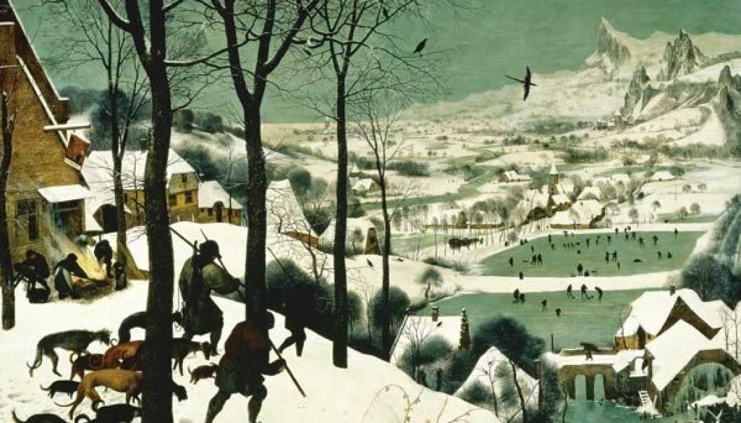 """""""Det var kaldt, da Pieter Breugel den eldre malte dette bildet i 1565"""""""