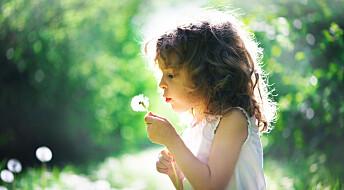 Barn er lykkeligere og sunnere om de er mye i naturen