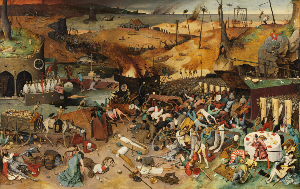 "Pieter Brueghel the Elders maleri ""The Triumph of Death"" malt i 1562"