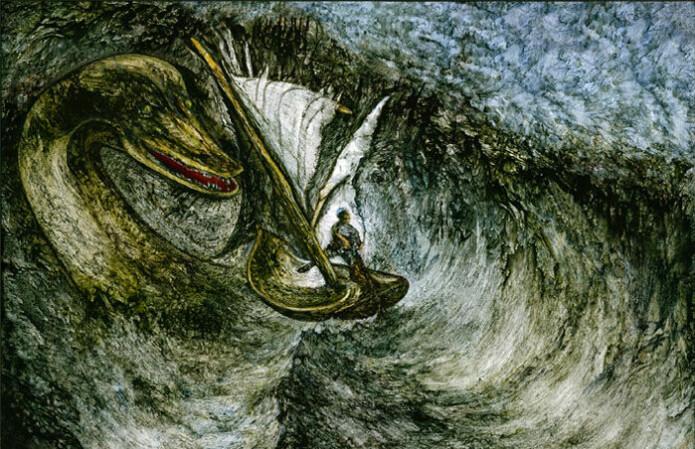 Det finnes flere fortellinger om sjømonstre. For eksempel myten om Loch Ness-monstret i en innsjø i Skottland.