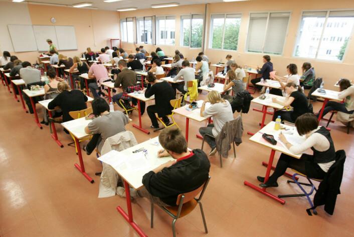 Den tradisjonelle klasseundervisningen blir satt ut av spill i baseskolene.(Illustrasjonsfoto: Colourbox)