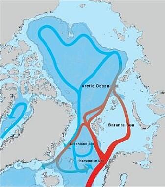 Havstraumane rundt Polhavet