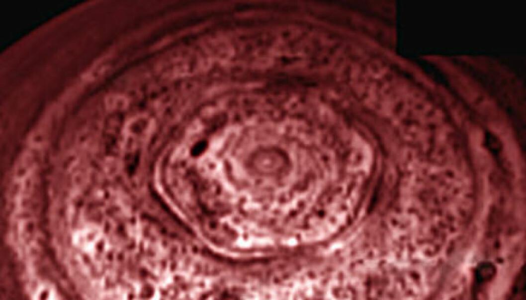 Mystisk sekskant på Saturn