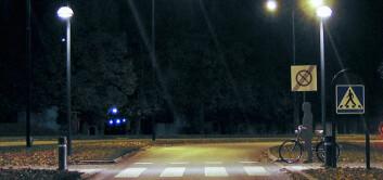 Merkingene på veien ble i gjennomsnitt oppdaget 42 meter senere enn selve syklisten. Det kan være farlig om en syklist plutselig skulle dukke opp. (Foto: VTI)