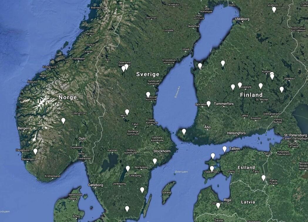 Så langt er det bare funnet to kratre på land i Norge. Nabolandene våre Sverige og Finland kan skilte med langt flere, 8 i Sverige og hele 11 i Finland. Selv lille Estland har langt flere enn oss.
