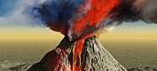 Vulkan åpnet havet