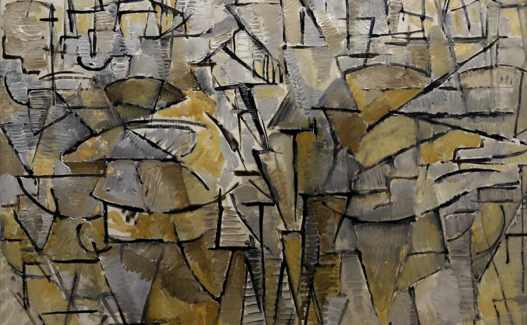 Det er opp til publikum å tolke hva nederlandske Piet Mondrians maleri Tableau no. 4 fra 1913 viser.