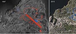 Flyfoto viser hvordan Norge så ut under og etter krigen