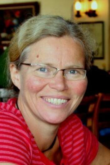Veterinær Liv Sølverød, leder for Helsetjenesten for Geit i Tine. (Foto: Tine)