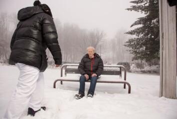 Bruk av GPS oppleves av brukere som fravær av tvang. (Foto: Henning Tunsli/SINTEF)