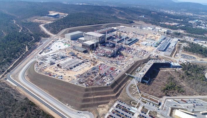 Bilde fra byggeplassen tatt i 2018.