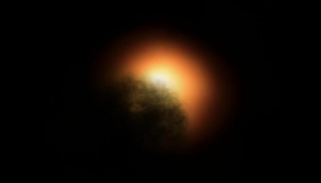 En mørk sky kan ha skygget for lyset fra Betelgeuse.