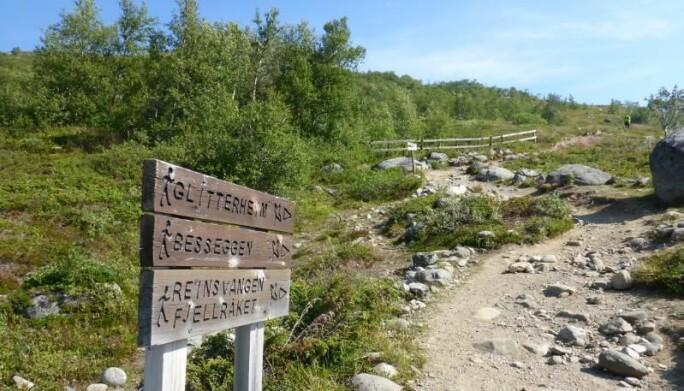 Å få vite hvor folk ferdes forteller forvaltere hvor det sannsynligvis er størst slitasje på naturen. Her fra tursti i Jotunheimen.