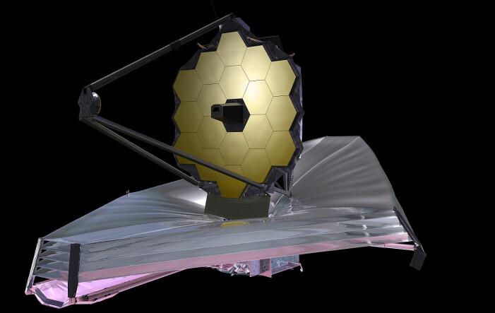 Romteleskopet James Webb, som etter planen skal opp i rommet i oktober 2021.