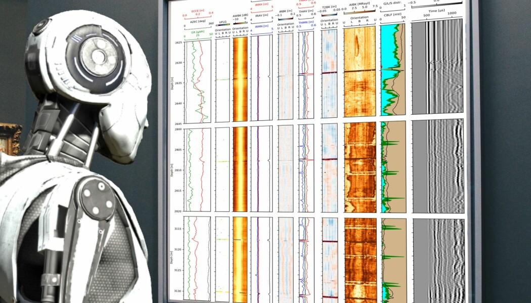 Sånn ser det altså ikke ut når en dataalgoritme vurderer ultralydmålinger fra en oljebrønn.
