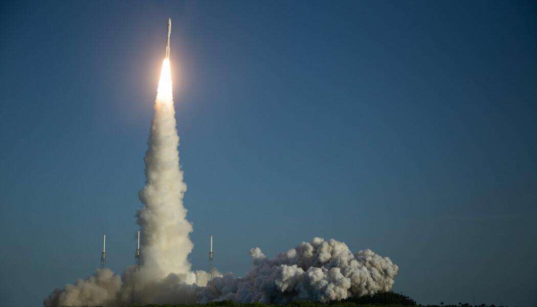 Her skytes sonden med NASAs nye Mars-rover opp fra Cape Canaveral i Florida, 30. juli 2020.