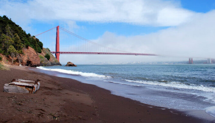 Golden Gate-brua, sett fra Kirby Cove-stranden. (Foto: BenBench, Wikimedia Commons)