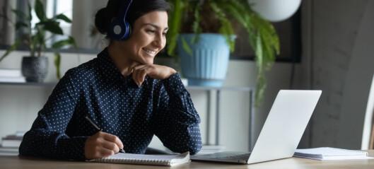 Lærerne på høyskole fikk tettere kontakt med studentene gjennom nettmøter