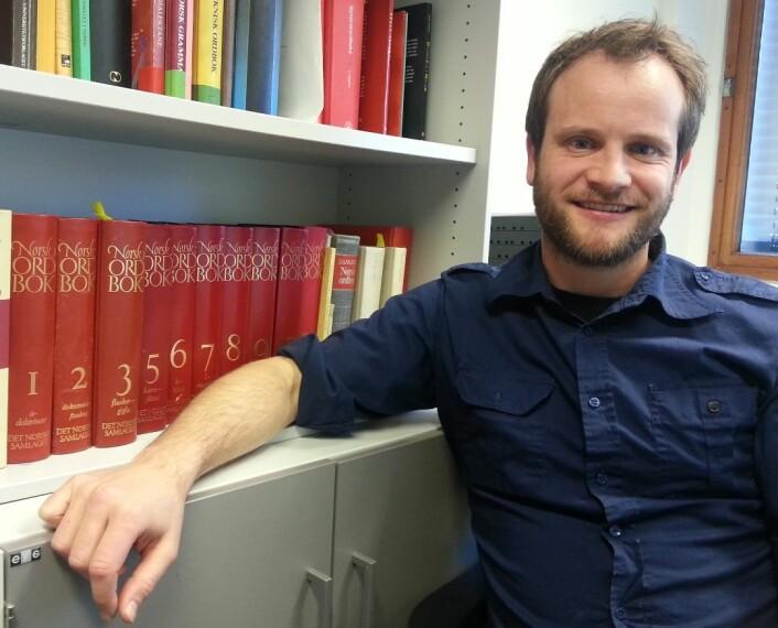 Kjetil Gundersen er en av 35 redaktører på Norsk Ordbok. (Foto: Nina Kristiansen)