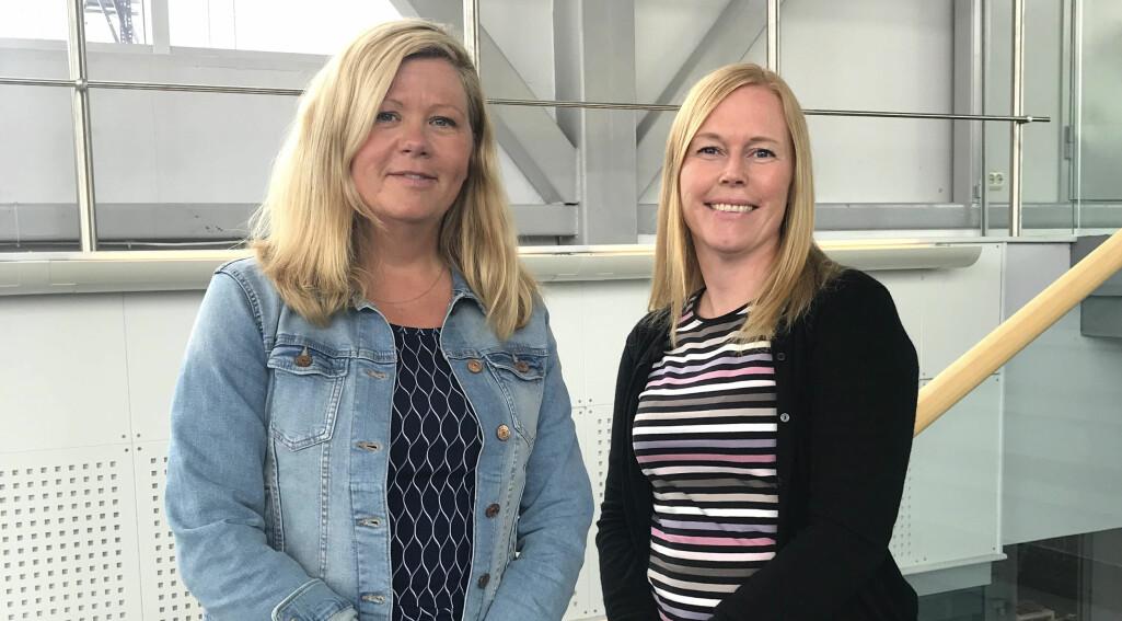 – Koronapandemien motiverte oss til å finne ut hvordan vi kan ha effektive  og gode videomøter i helsesektoren, sier e-helseforskerne (fra v.)  Line Silsand og Gro-Hilde Severinsen.