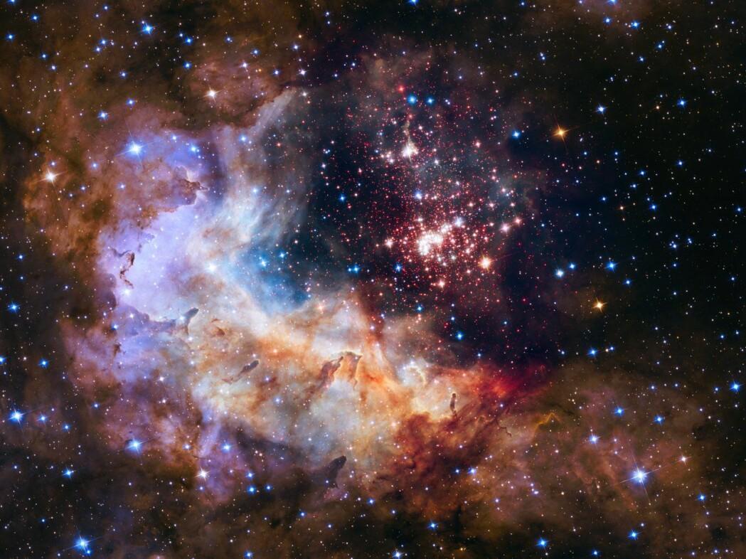 Big bang teorien forteller om hvordan universet har utviklet seg fra en tidlig tilstand. Her er et vakkert skue av en stjernehop i Melkeveien.