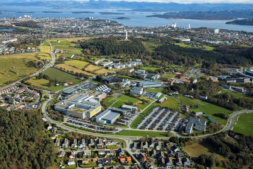 Campus Ullandhaug og Stavanger by.