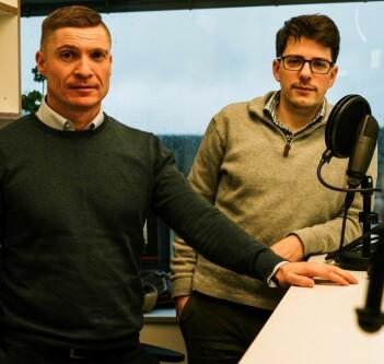 Harald Borgebund (til venstre) og Sondre Lindahl står bak podkasten: Statvitenskap og sånt.