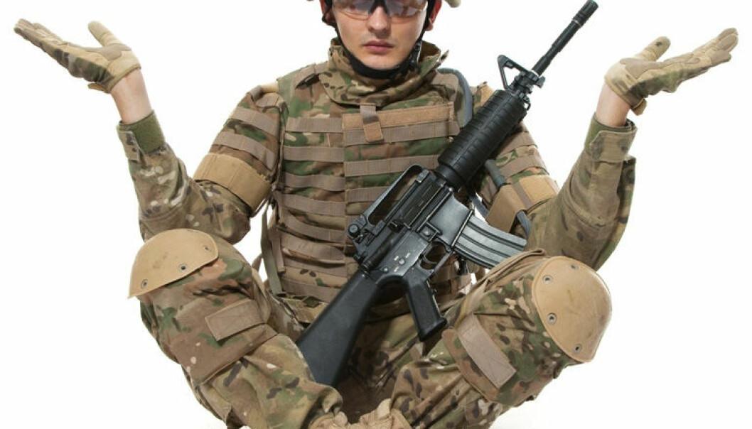 Det amerikanske militæret er de siste årene begynt å teste mindfulnesstrening. I militæret går treningen under navnet «mind fitness» – trening av sinnet. Colourbox