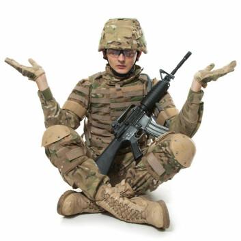 Det amerikanske militæret er de siste årene begynt å teste mindfulnesstrening. I militæret går treningen under navnet «mind fitness» – trening av sinnet. (Foto: Colourbox)
