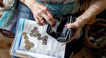 Helseproblemene øker i takt med at lommeboka krymper