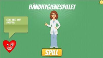 Håndhygienespillet er et læringsspill som er en del av et opplæringsprogram. (Foto: (Helsekompetanse))