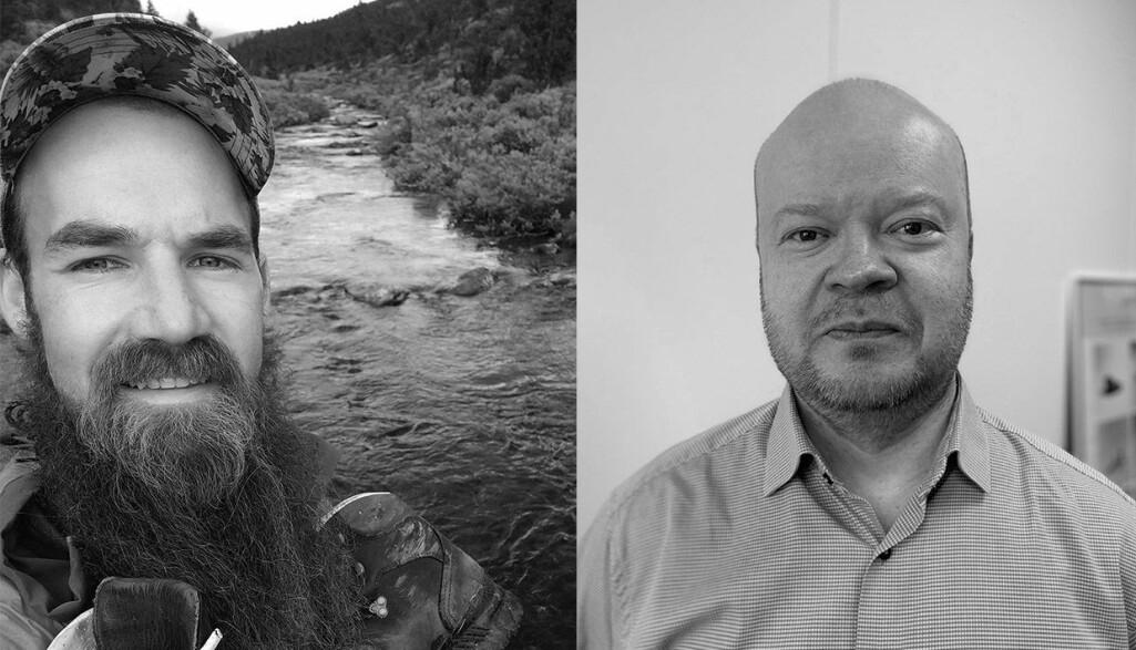 Historiker Jukka Nyyssönen (t.h.) og arkeolog og humanøkolog Erlend Kirkeng Jørgensen (t.v.) bringer begge ny og relevant kunnskap til en avdeling spesialisert på forskningsspørsmål i skjæringspunktet mellom natur- og kulturarv.