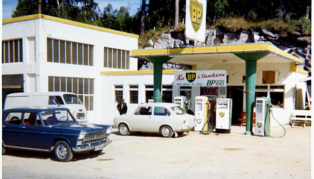 BP-stasjonen på Tingvoll i Møre og Romsdal. Bildet er trolig tatt i 1967.