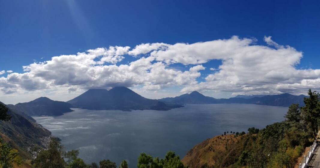 Super volcanoes can cause major destruction. This is the caldera after the volcano Los Chocoyos in Guatemala, now the beautiful Lake Atitlán.