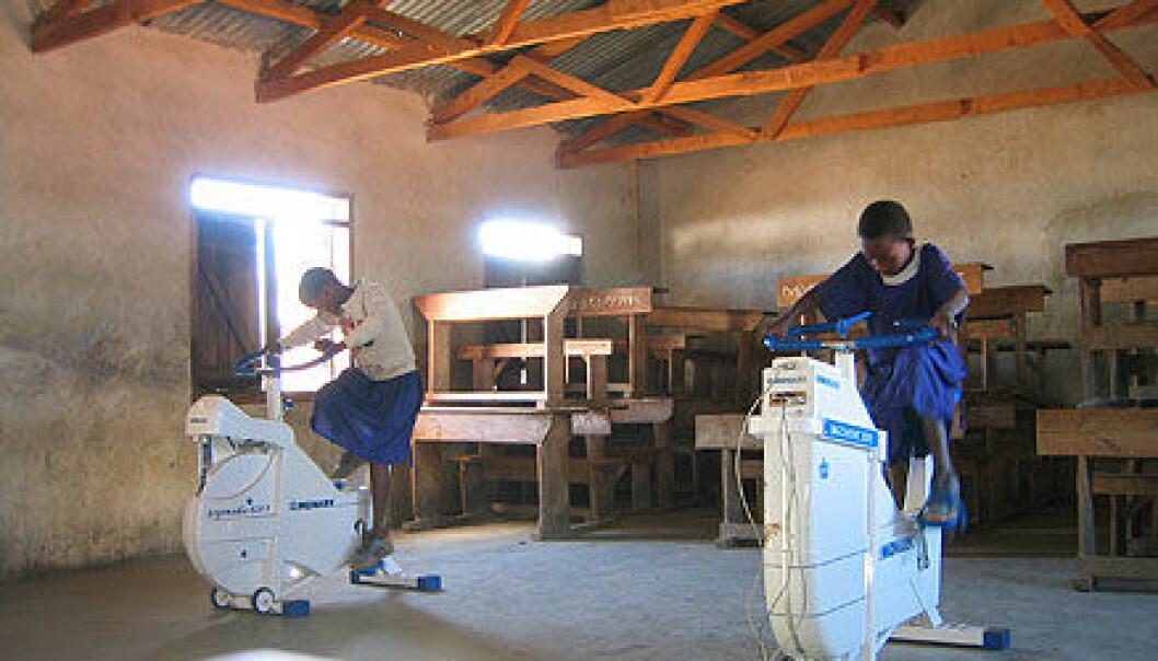 Med ergometersykkel til Tanzania