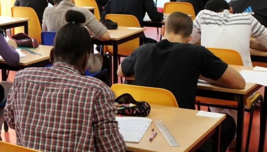 Størrelsen på klassen påvirker karakterene