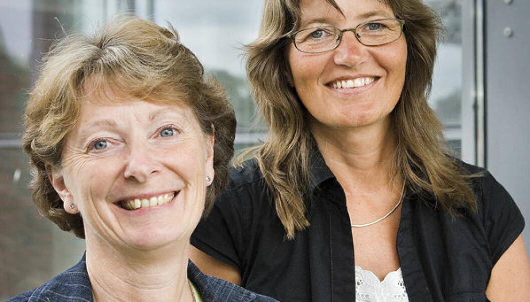 """""""Professor Judith Narvhus og førsteamanuensis Anne Wetlesen ser for seg en styrket mattrygghet om NVH og UMB slås sammen"""""""