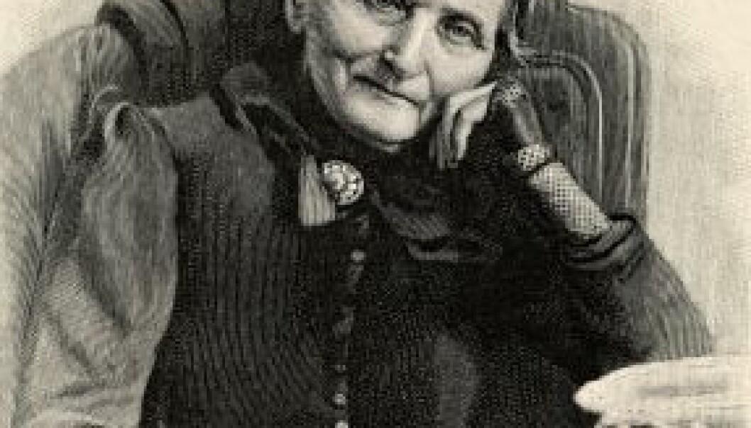 Essayisten Camilla Collett viser tyngde