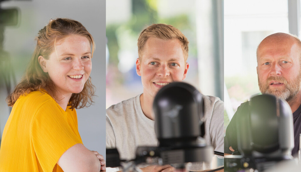 Programleder Hedda Ovidia Stølen snakker med journalist Ståle Grut og medieforsker Petter Brandtzæg om falske nyheter i Universitetsplassen LIVE.