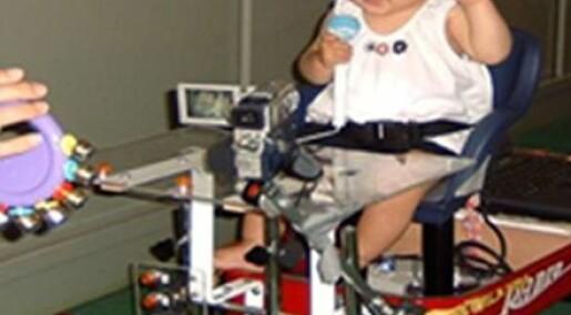 Babyer lærer seg høydeskrekk
