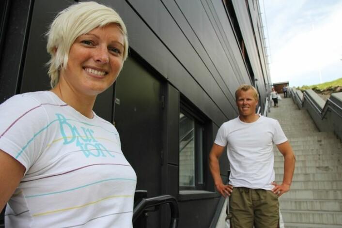Å ha femti kilo for mykje, er noko heilt anna enn å ha fem kilo for mykje – vegen ut av det er mykje vanskelegare, ifølgje Eivind Aadland (t.h.) og Tina Rosseid Midthun. (Foto: Katrine Sele, HiSF)