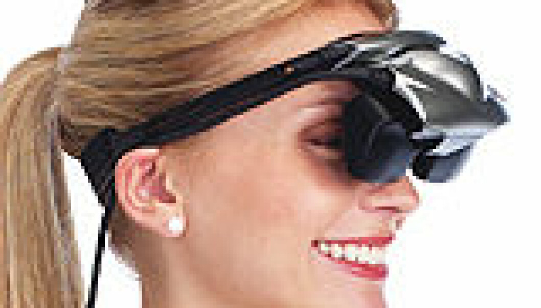 """""""eMagin Z800 3DVisor - videobrille med dybdesyn og bevegelsesføler. Foto: eMagin"""""""