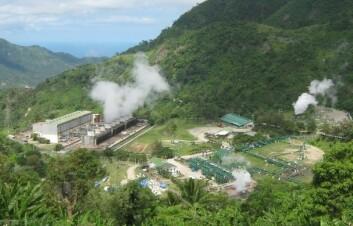 Puhagan geotermiske anlegg i Filippinene. Landet får 27 prosent av sin totale strømproduksjon fra jordas varme kilder. (Foto: Wikimedia Commons)