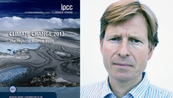 CICERO-forskar Gunnar Myhre er ein av fem norske hovudforfattar på klimapanelets femte rapport. (Foto: IPCC/ CICERO/ montasje NRK)