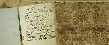 Svartebok datert til slutten av 1700-talletfra Jeløya utenfor Moss i Østfold. (Foto: Annica Thomsson)